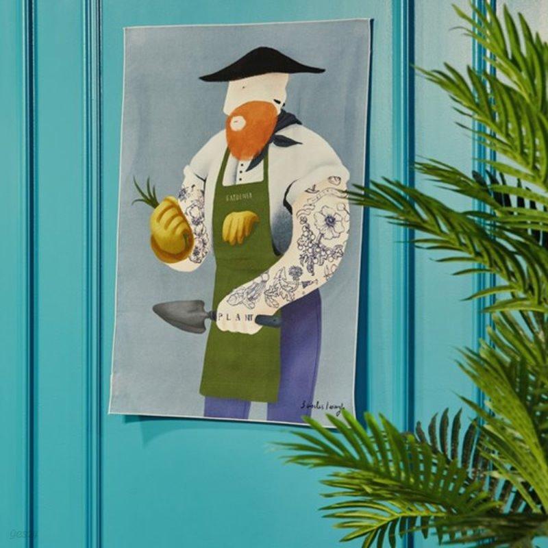 일상그림 패브릭포스터 '정원사'