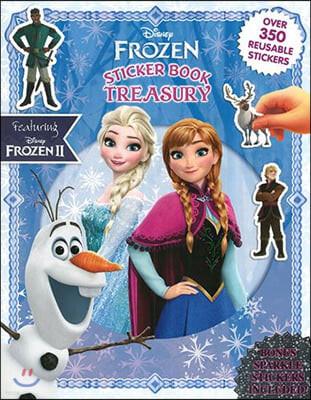 Disney Frozen : Sticker Book Treasury 디즈니 겨울왕국 스티커북 (겨울왕국 2 포함 / 떼었다 붙였다 스티커 350개)