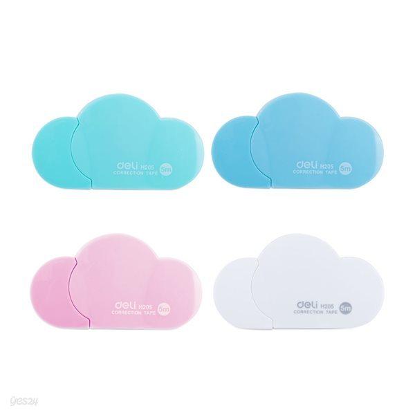 DELI 델리 파스텔 구름 수정테이프 5mmx5M 수정화이트