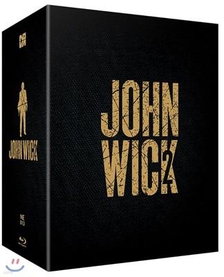 존윅2 박스셋+ 존윅3 박스세트 스틸북 한정판