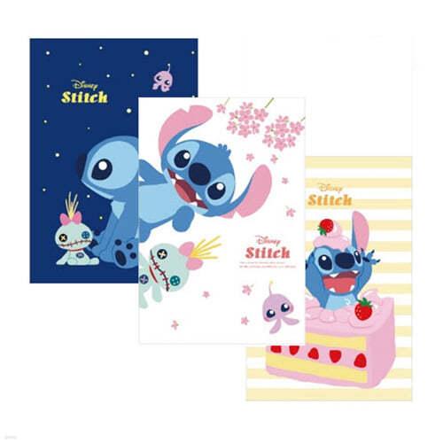 [1+1]디즈니 스티치 무선 연습장 랜덤 발송 10권이 1세트