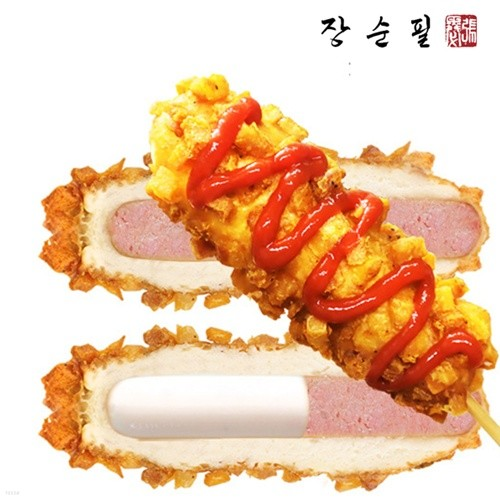 장순필푸드 에어프라이어 전용 바삭 감자핫도그 ...