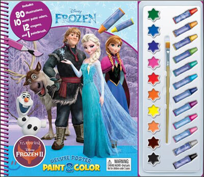 Disney Frozen 2 : Deluxe Poster Paint & Color : 겨울왕국2 물감놀이 세트