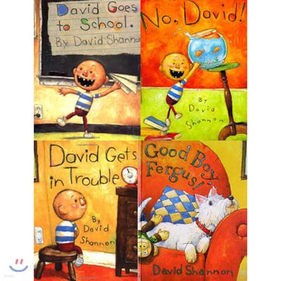데이비드 섀넌 원서 그림책 베스트 4종 세트 Best of David Shannon 4 book Collection #1