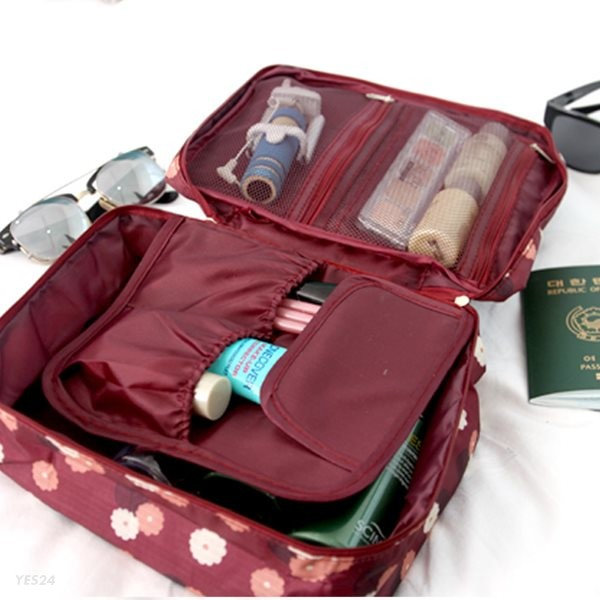7.멀티패턴파우치 대 여행용/여권/화장품가방