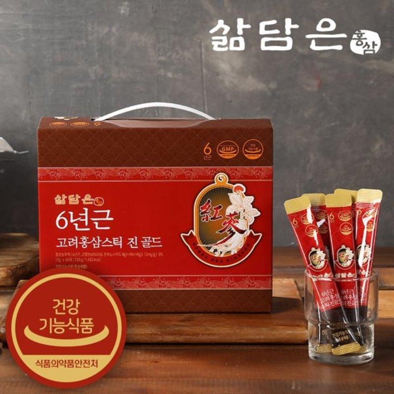 삶담은홍삼 6년근 고려홍삼 스틱진골드 12g x 60개입