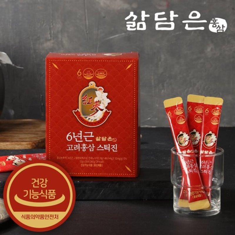 삶담은홍삼 6년근 고려홍삼 스틱진 12g x 30개입