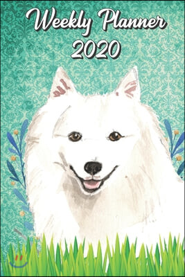 Weekly Planner 2020: Japanese Spitz 2020 Weekly Calendar with Room for Notes. Perfect Gift for Pet and Dog Owners.