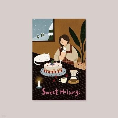 [크리스마스카드]Sweet Holidays 캘리그라피카드