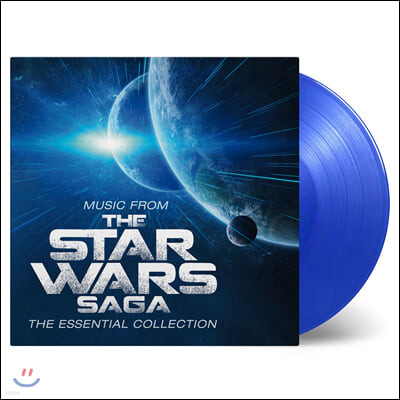 스타워즈 영화음악 베스트 모음집 (Music From The Star Wars Saga - The Essential Collection by John Williams) [투명 블루 컬러 2LP]
