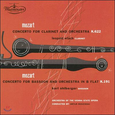 Leopold Wlach / Karl Ohlberger 모차르트: 클라리넷 & 바순 협주곡