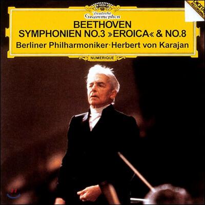 Herbert von Karajan 베토벤: 교향곡 3번 '에로이카', 8번 (Beethoven: Symphonies No. 3 'Eroica', No. 8)