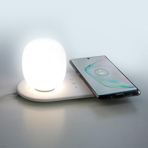 LED 무드등 조명 타이머 아이폰11 갤럭시 노트 고속 무선 충전기 UMWHL10