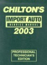 Chilton's Import Service Manual 1999-2003