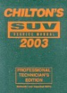 Chilton's Suv Service Manual, 1999-2003