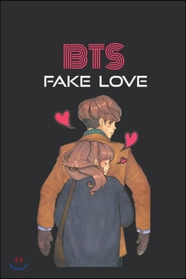 BTS Fake Love Notebook: K-pop 110 Lined Pages Journal & Notebook, Kpop accessories, Kpop gift, unique gifts for teenage girls (K-pop: Lovers,