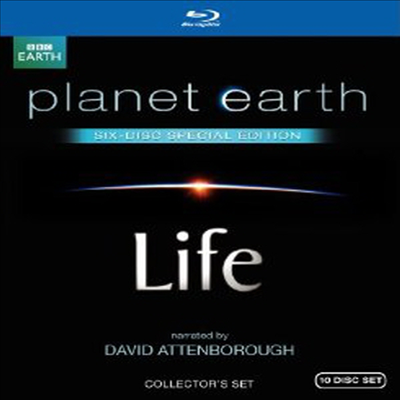 Life / Planet Earth: Special Edition : Both Narrated by David Attenborough (라이프:살아있는 지구) (한글무자막)(Blu-ray) (2011)