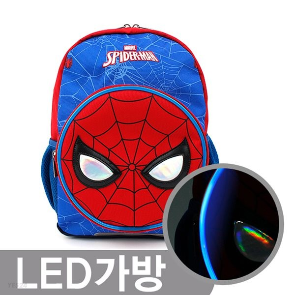 스파이더맨 페이스 LED백팩 마블 어벤져스 가방