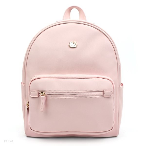 헬로키티 심플 PU 백팩 파스텔 핑크 배낭 HK0013