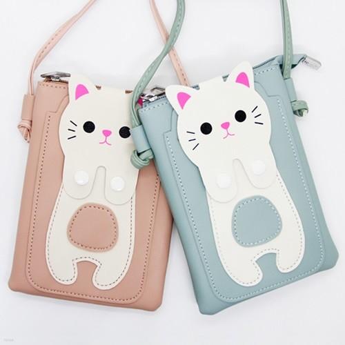 아동크로스백 고양이 핸드폰가방