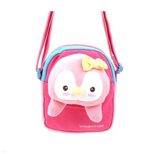 피키펭 크로스백 귀여운 핑크 펭귄 가방 숄더백