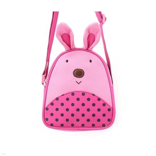 러브슈 럭키 크로스백 귀여운 핑크 토끼 숄더백 가방