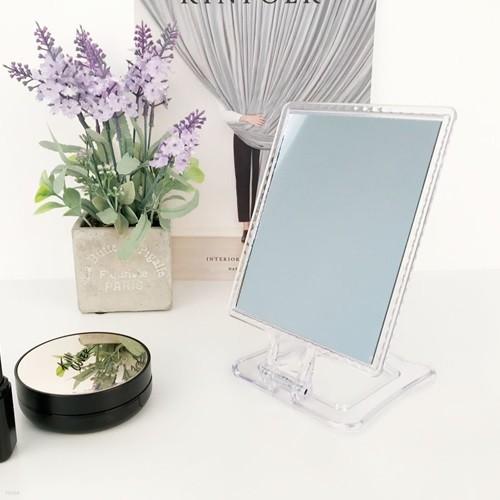 투명 사각 탁상거울 화장대거울(mini)