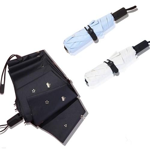 왕관 3단 양우산 암막 휴대용 우산 양산