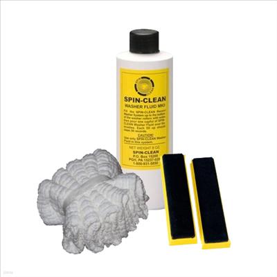 Spin Clean - Spin Clean(스핀클리너)(LP클리너)(LP청소) 소모품 Set(브러쉬 + 세척액 8 Oz + 건조천5PK)