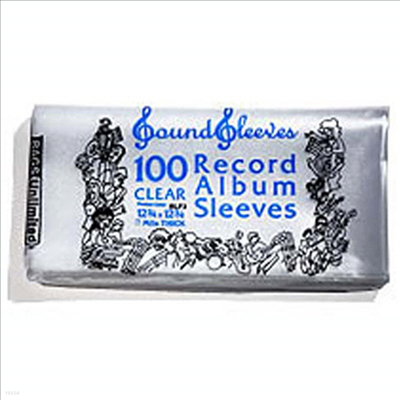 "Bags Unlimited - SLP4 Poly Album Sleeve-100 Count(Fits over 12"" LP Jacket)(LP커버)"