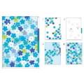3포켓 클리어 폴더 - BLUE FLOWER
