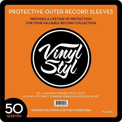 "Vinyl Styl - Vinyl Styl 12.75""X12.75""Poly Sleeve 50CT VSP005"