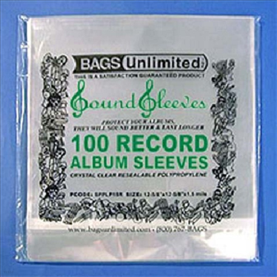 Bags Unlimited - SLPS3R Poly Reasealable Album Sleeves-100 CT(LP커버)