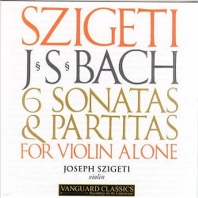 바흐 : 무반주 바이올린 소나타와 파르티타 (Bach : 6 Sonatas and Partitas for Solo Violin) (2CD) - Joseph Szigeti