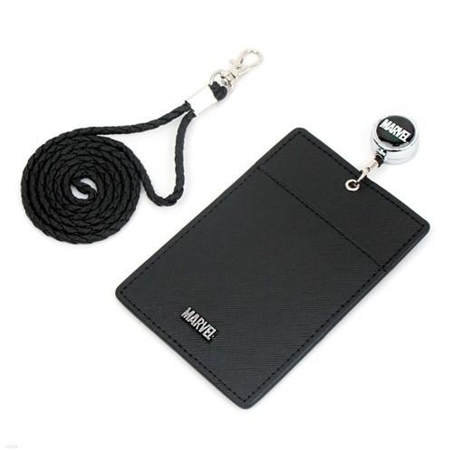 마블 릴 목걸이 카드 지갑 심플 블랙 MV0434