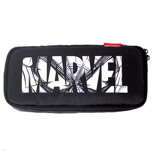 블랙 마블 액션 필통 MARVEL 로고 MV0516