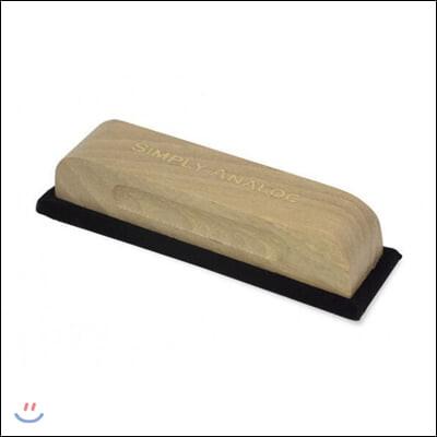 심플리 아날로그 정전기 방지 오크나무 레코드 벨벳 브러쉬 (Simply Analog Anti-Static Handmade Oak Wooden Velvet Brush)