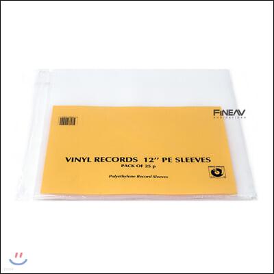심플리 아날로그 레코드 외부 슬리브 LP 12인치 PE (Polyethylene) (Simply Analog PE Outer Heavy Sleeves)