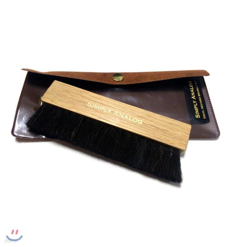 심플리 아날로그 정전기 방지 오크나무 레코드 브러쉬 (Simply Analog Anti-Static Oak Wooden Brush) [Brown]