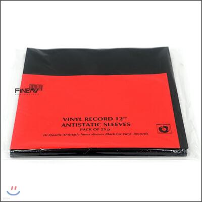 심플리 아날로그 정전기방지 내부 슬리브 LP 12인치 [블랙] (Simply Analog Antistatic Inner Sleeves Black)