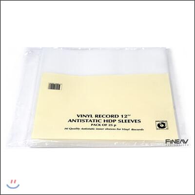 심플리 아날로그 정전기방지 내부 슬리브 LP 12인치 [HDP] (Simply Analog HDP Antistatic Inner Sleeves Vinyl)