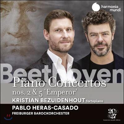 Kristian Bezuidenhout / Pablo Heras-Casado 베토벤: 피아노 협주곡 전곡 1집 - 2, 5번 '황제' [포르테 피아노 연주 버전]