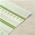 [DAILYLIKE] Fabric Sticker - Petit (green)