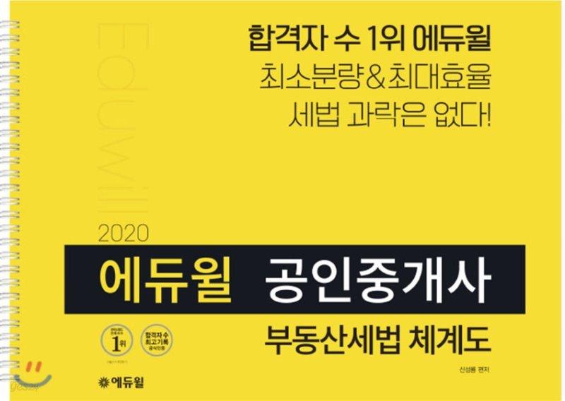2020 에듀윌 공인중개사 부동산세법 체계도