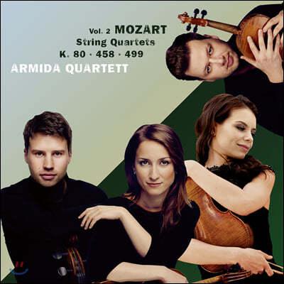 Armida Quartett 모차르트: 현악사중주 1번 '로디', 17번 '사냥', 20번 '호프마이스터' (Mozart: String Quartets Vol. 2 - K.80, 458, 499)