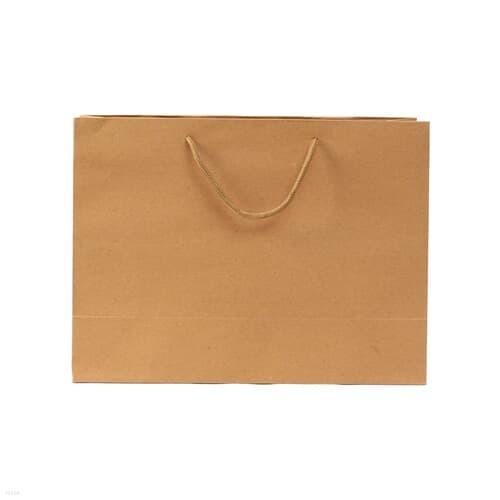 무지 가로형 쇼핑백(브라운)(24x17cm)/종이쇼핑...