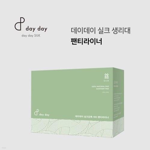 데이데이 유기농 실크생리대 팬티라이너(15매입)180mm