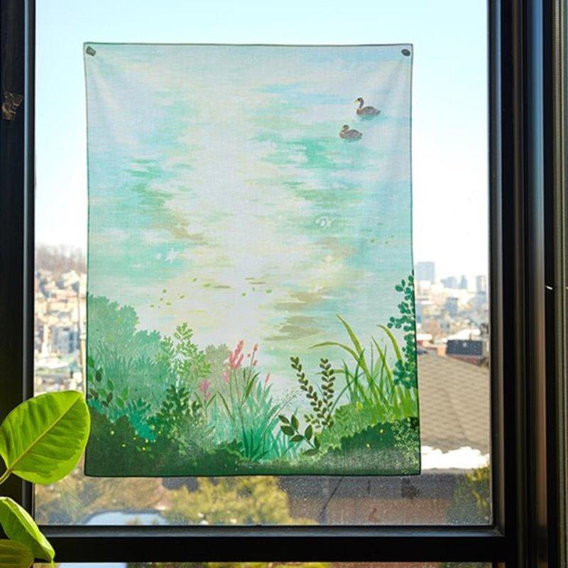 일상그림 패브릭포스터 '여름 호수'