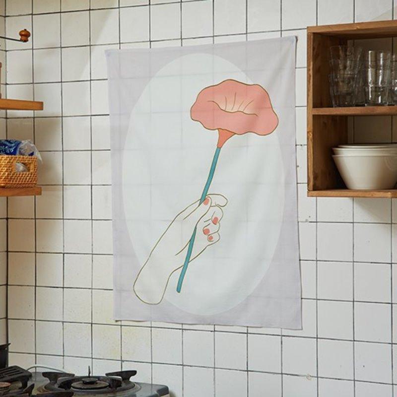 일상그림 패브릭포스터 'Flower'