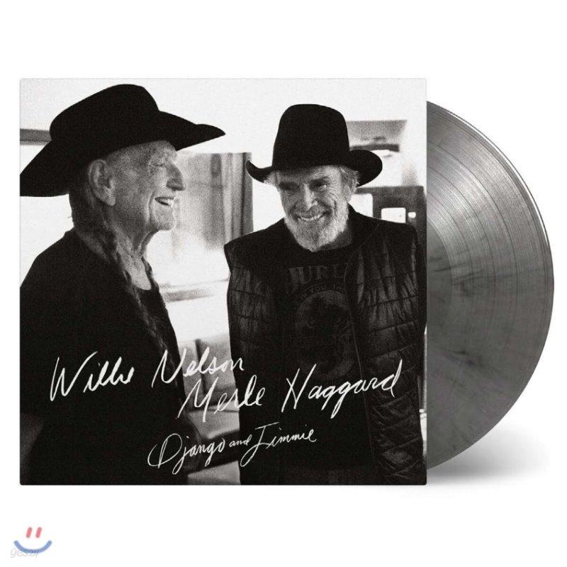 Willie Nelson & Merle Haggard (윌리 넬슨 & 멀 해거드) - Django and Jimmie [블랙 & 실버 마블 컬러 2LP]